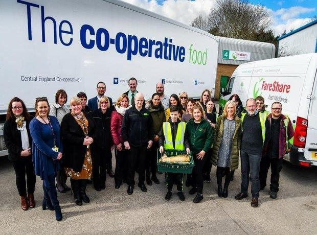 FareShare and Co-op unveil major new food waste project